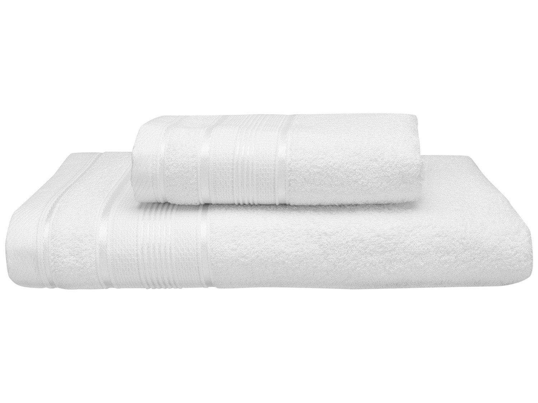 Jogo de Toalha de Banho Santista Royal Knut - 100% Algodão Branco 2 Peças