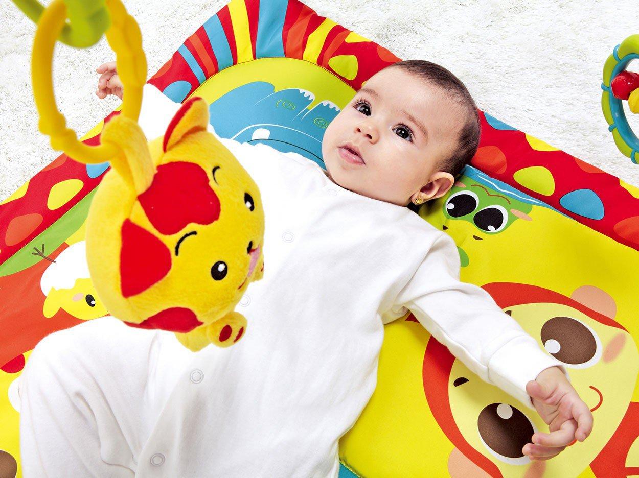 Tapete Infantil Animais Diversos 52x80cm - com 5 Móbiles Mastela - 8