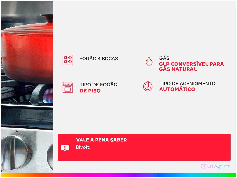 Foto 2 - Fogão 4 Bocas Consul CFO4NAB - Acendimento Automático Branco