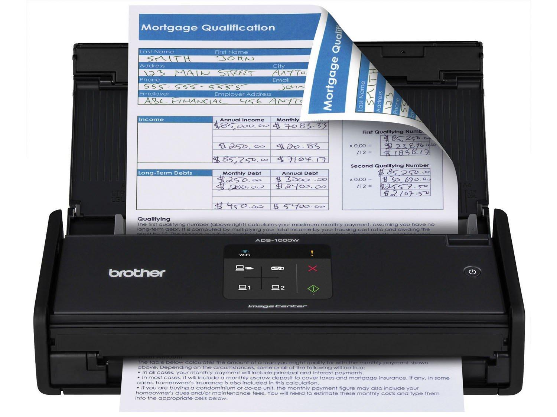 Foto 2 - Scanner de Mesa Brother ADS1000W - Alimentador Automático Digitalização Duplex Wi-Fi