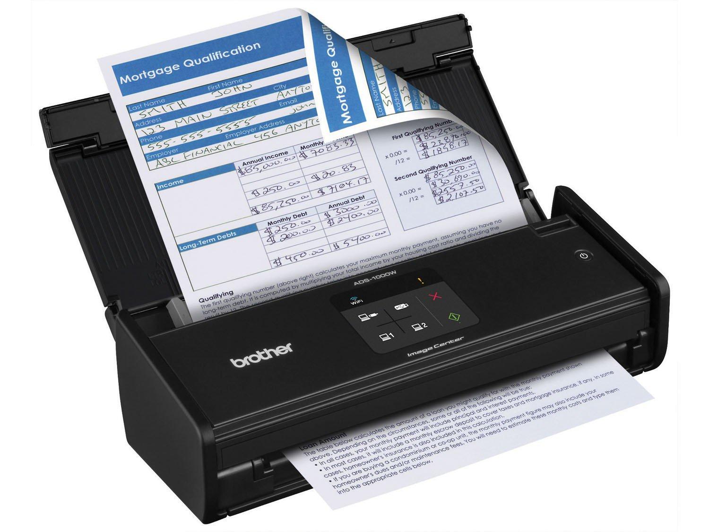Foto 3 - Scanner de Mesa Brother ADS1000W - Alimentador Automático Digitalização Duplex Wi-Fi