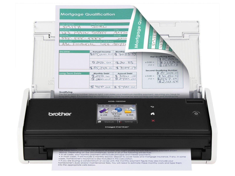 Foto 4 - Scanner de Mesa Brother ADS1500W - Colorido Wi-Fi