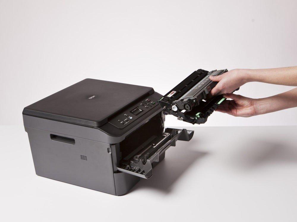 Foto 1 - Impressora Multifuncional Brother DCPL2520DW - Laser Wi-Fi Preto e Branco USB