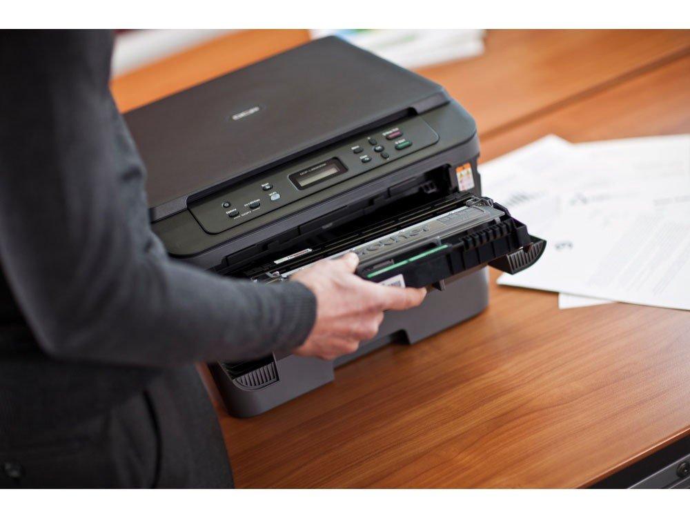 Foto 3 - Impressora Multifuncional Brother DCPL2520DW - Laser Wi-Fi Preto e Branco USB
