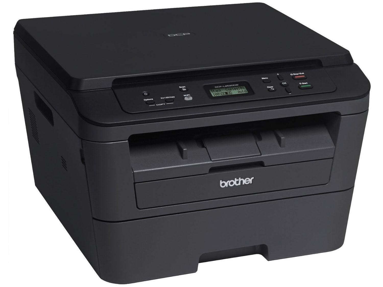 Foto 4 - Impressora Multifuncional Brother DCPL2520DW - Laser Wi-Fi Preto e Branco USB