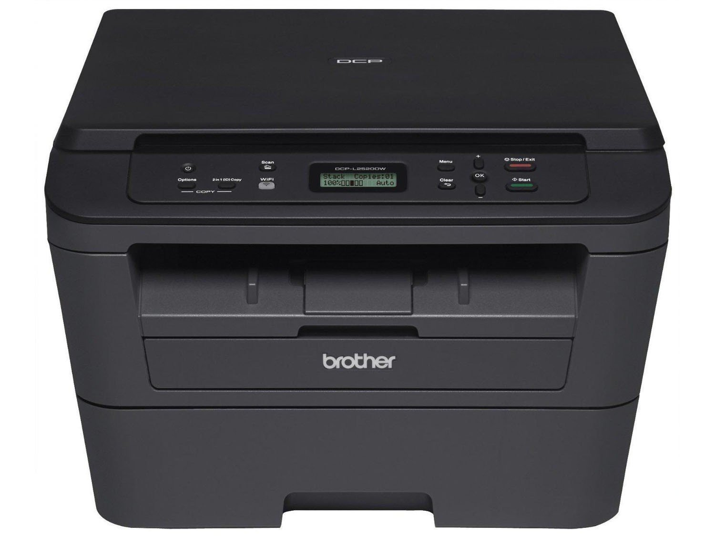 Foto 5 - Impressora Multifuncional Brother DCPL2520DW - Laser Wi-Fi Preto e Branco USB