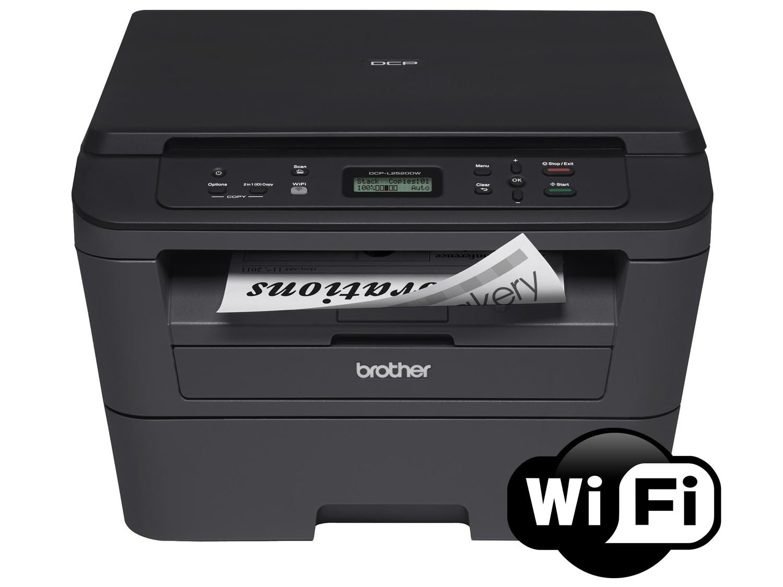 Foto 10 - Impressora Multifuncional Brother DCPL2520DW - Laser Wi-Fi Preto e Branco USB