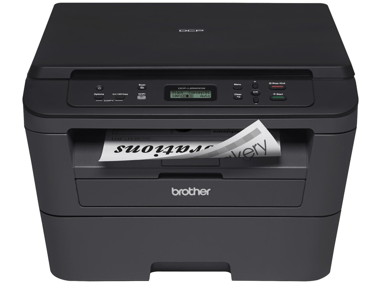 Foto 18 - Impressora Multifuncional Brother DCPL2520DW - Laser Wi-Fi Preto e Branco USB