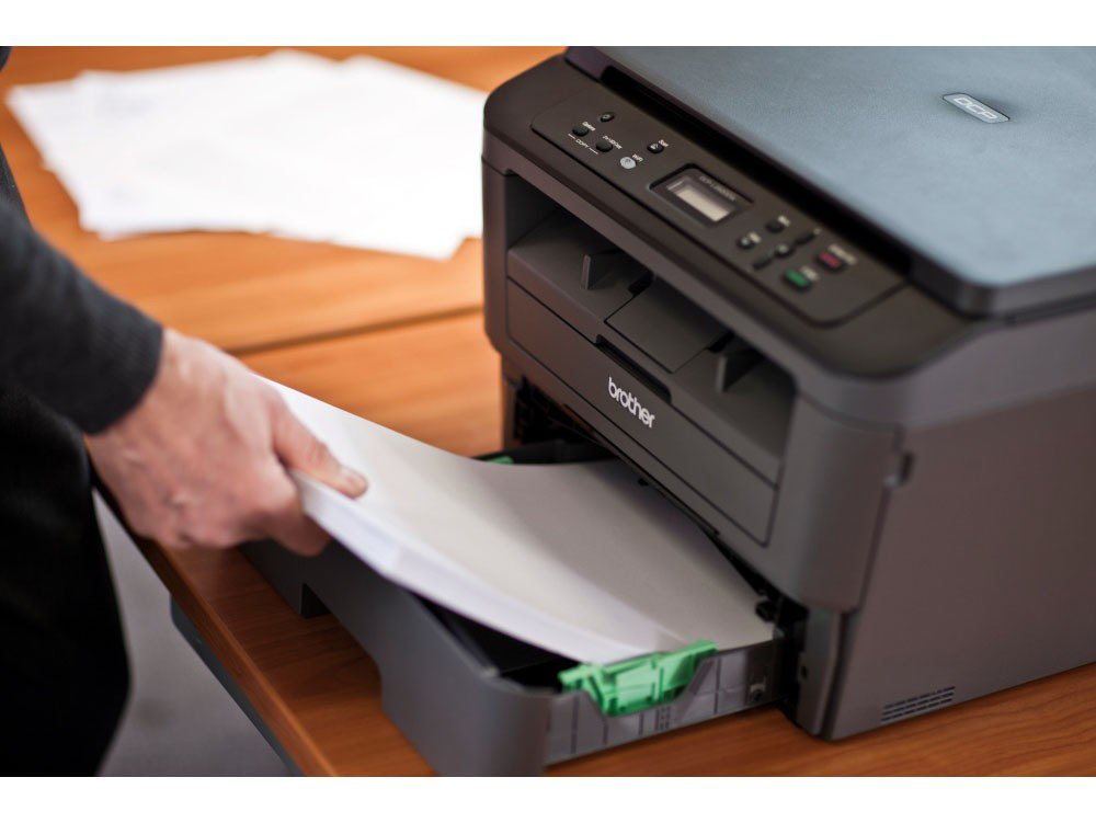 Foto 20 - Impressora Multifuncional Brother DCPL2520DW - Laser Wi-Fi Preto e Branco USB
