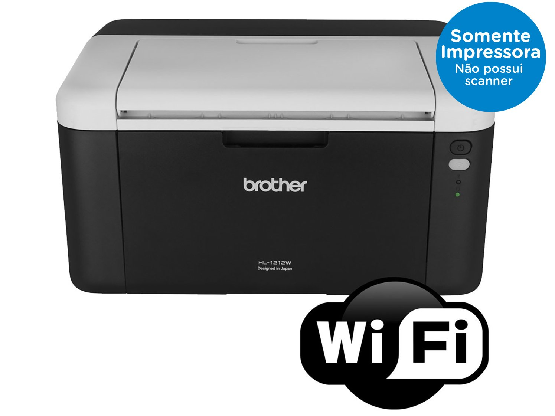 Foto 2 - Impressora Brother HL1212W Laser Wi-Fi - Monocromática USB