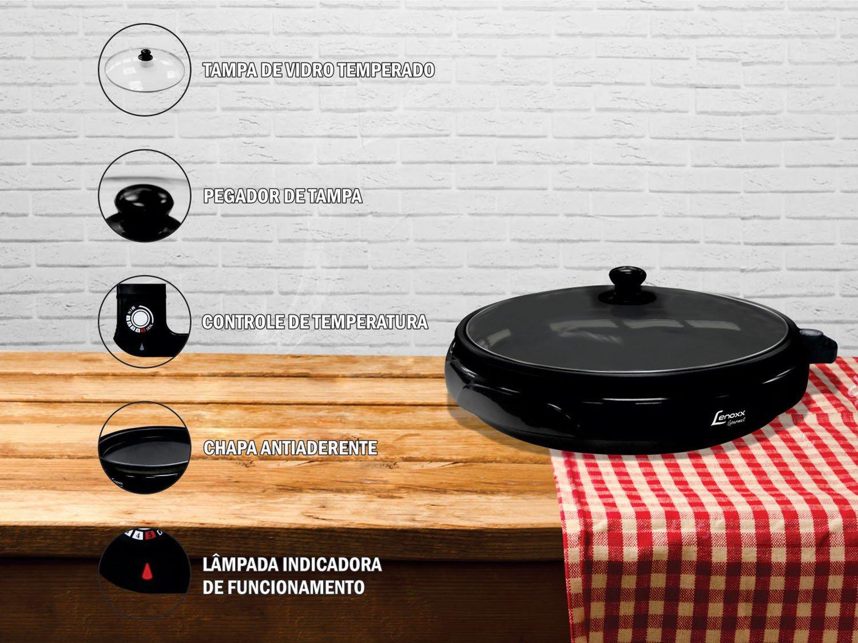 Foto 4 - Grill Lenoxx Gourmet 1250W - Controle de Temperatura