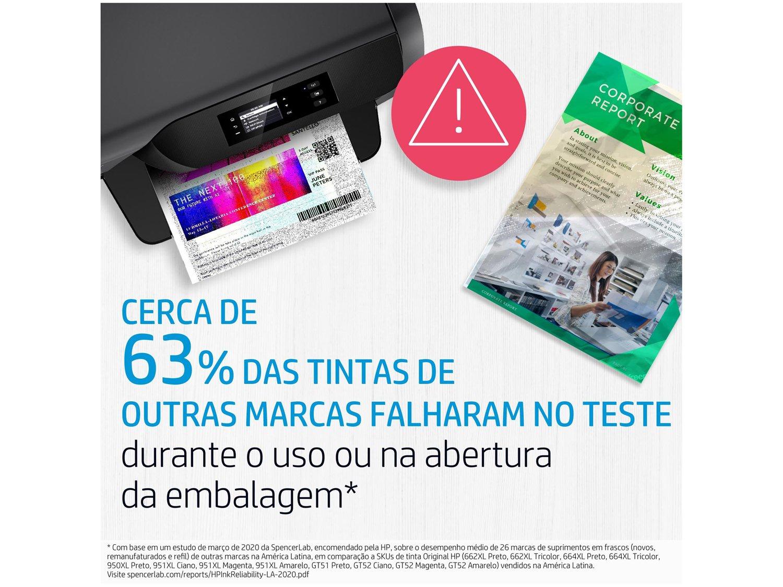 Cartucho de Tinta HP Colorido 664 XL Original -  - 3