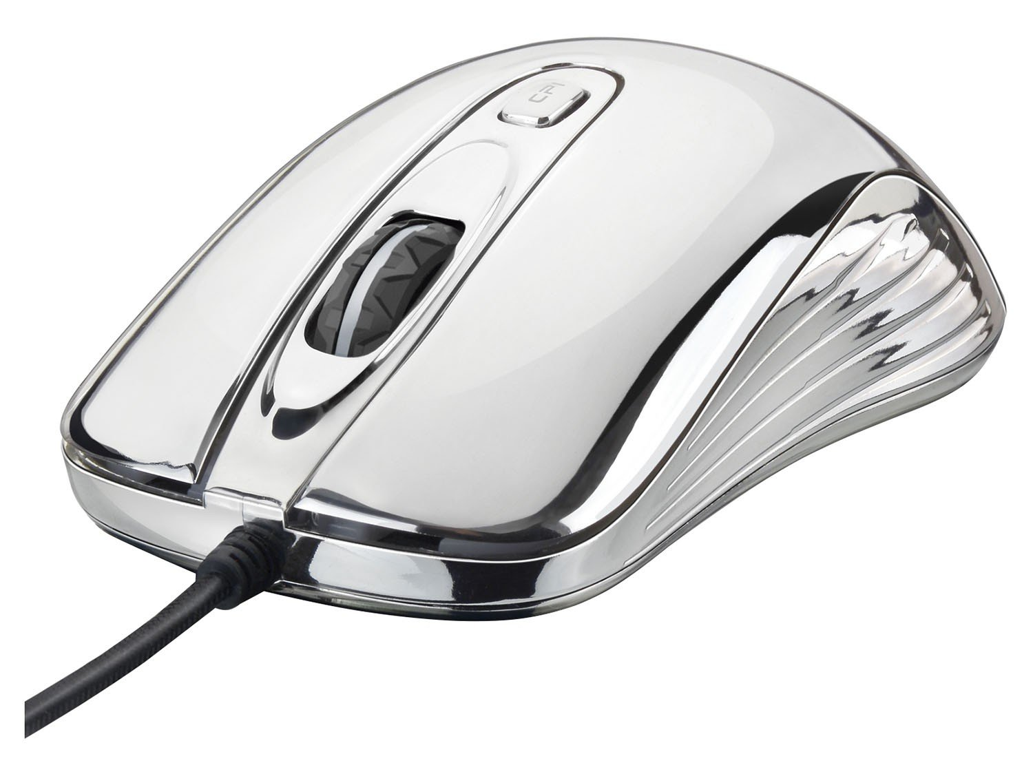 Foto 1 - Mouse Óptico 1600dpi USB - Multilaser Gamer Chrome Warrior M0228