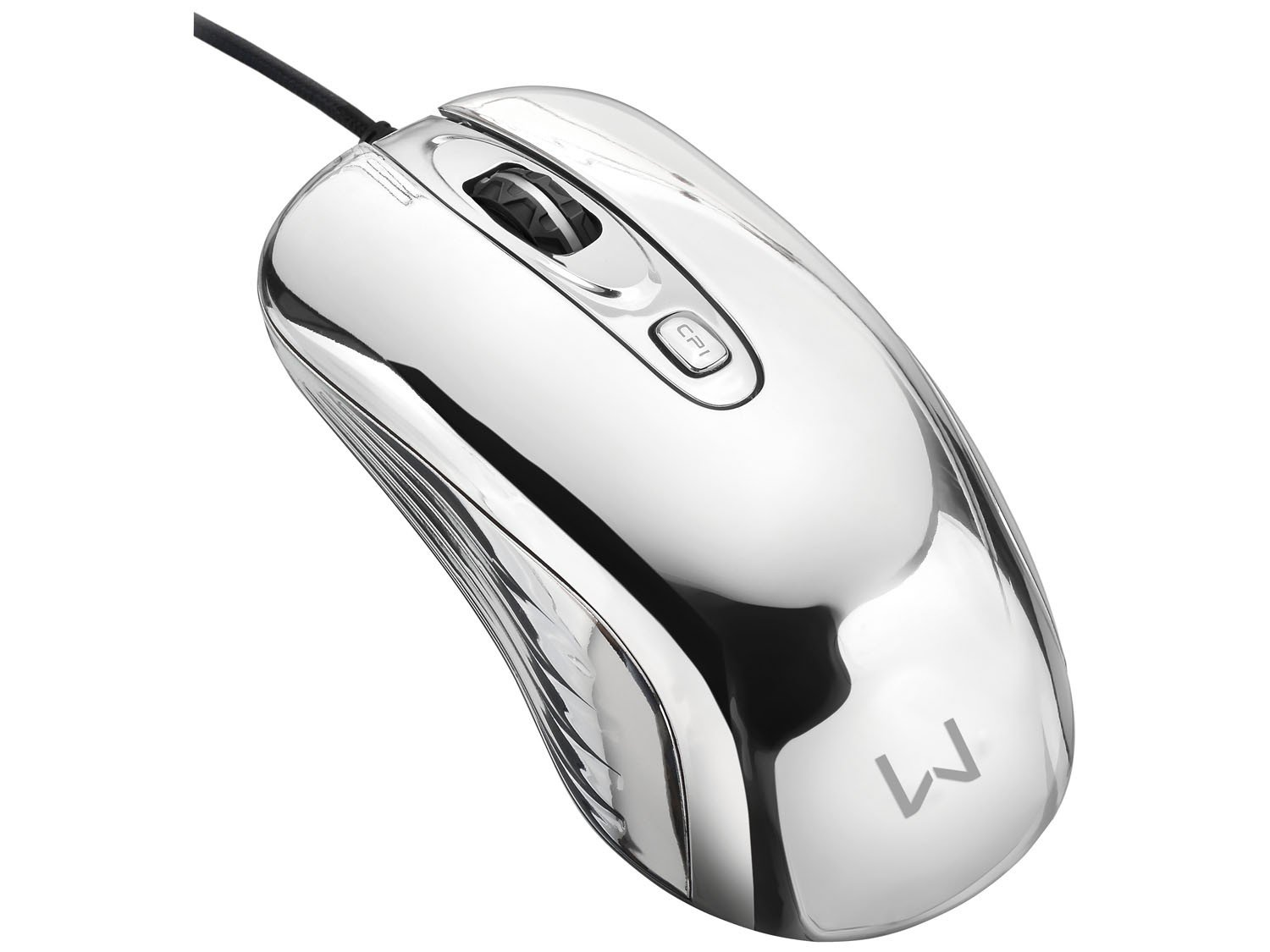 Foto 2 - Mouse Óptico 1600dpi USB - Multilaser Gamer Chrome Warrior M0228