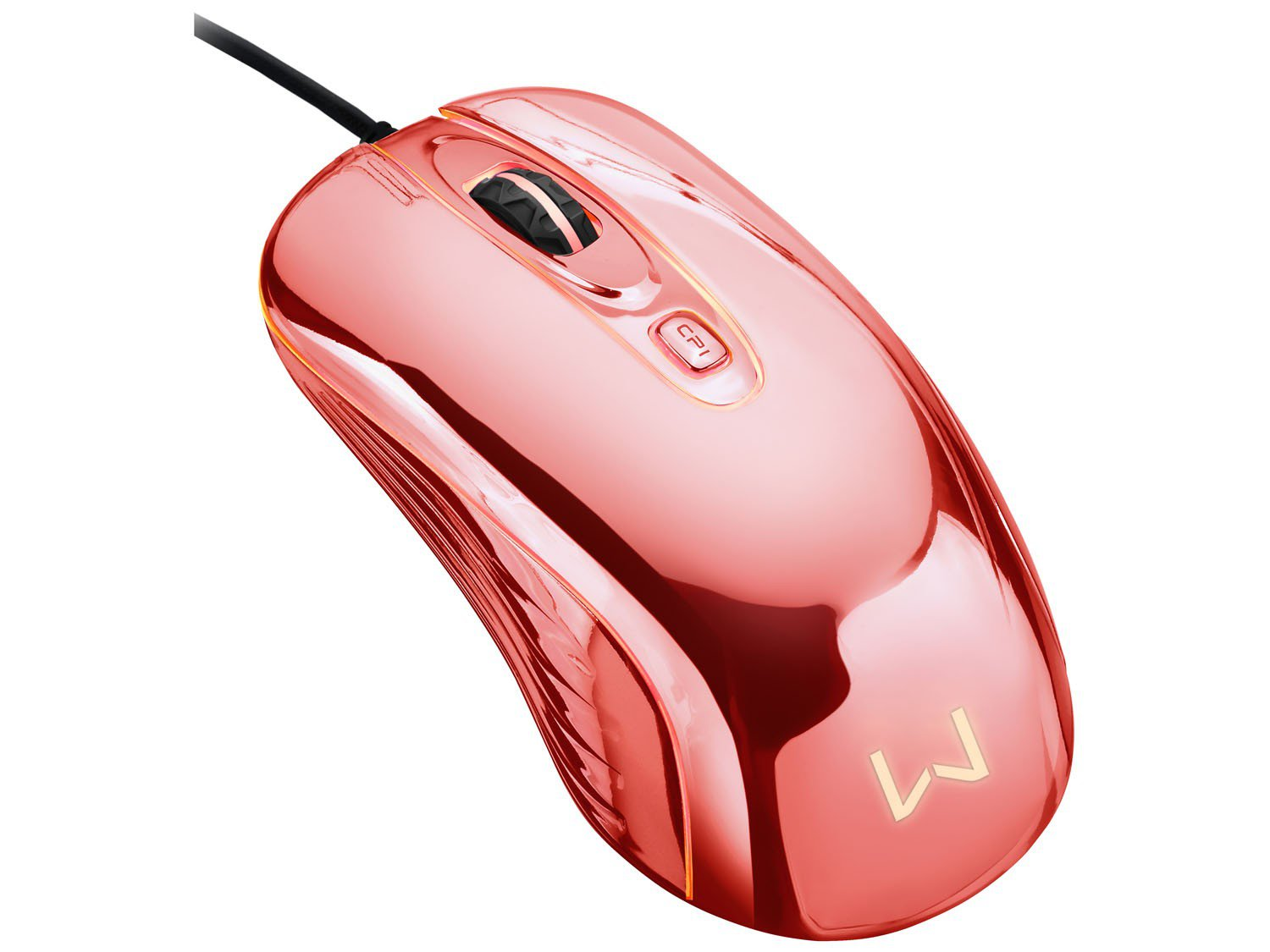 Foto 4 - Mouse Óptico 1600dpi USB - Multilaser Gamer Chrome Warrior M0228