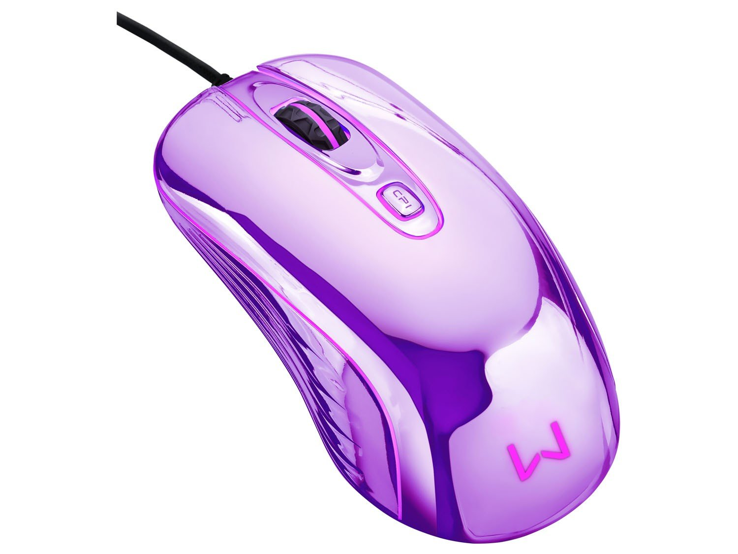 Foto 5 - Mouse Óptico 1600dpi USB - Multilaser Gamer Chrome Warrior M0228