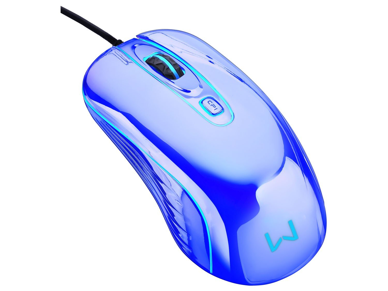 Foto 7 - Mouse Óptico 1600dpi USB - Multilaser Gamer Chrome Warrior M0228