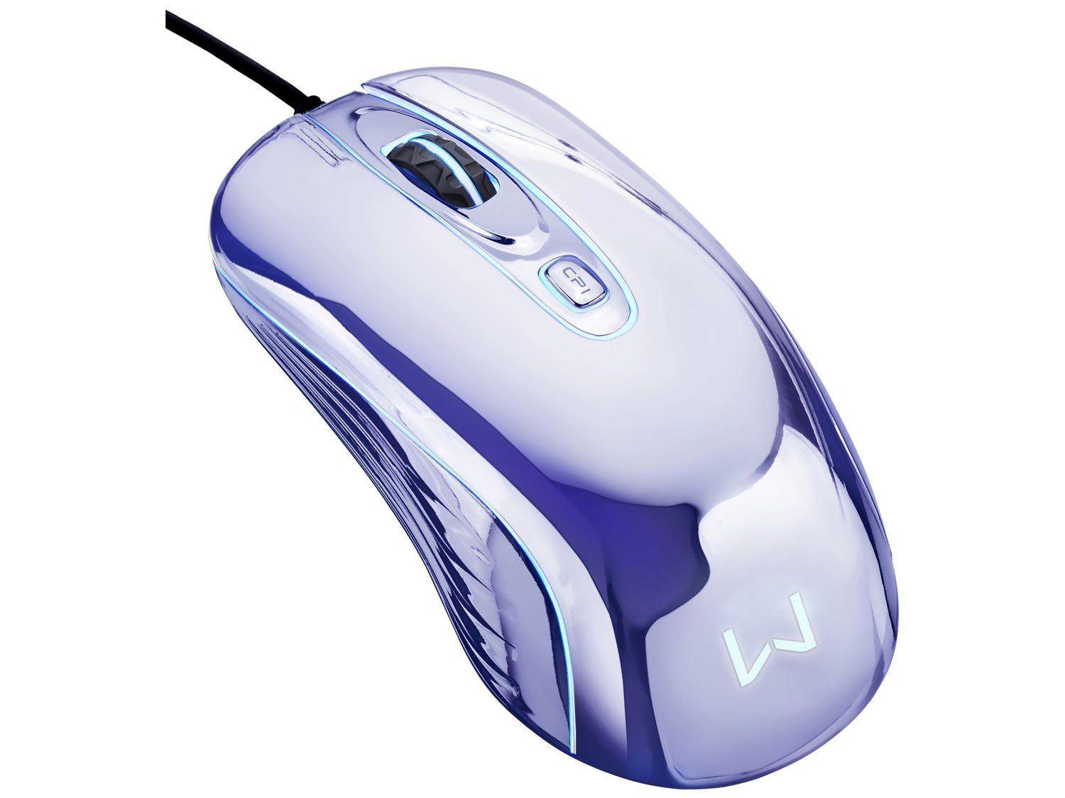 Foto 9 - Mouse Óptico 1600dpi USB - Multilaser Gamer Chrome Warrior M0228