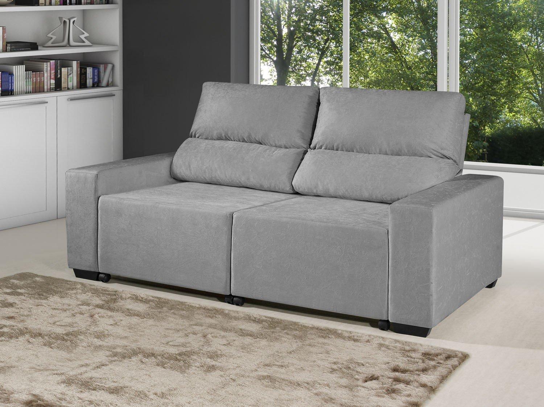 Foto 2 - Sofá Retrátil Reclinável 3 Lugares Suede Elegance - American Comfort
