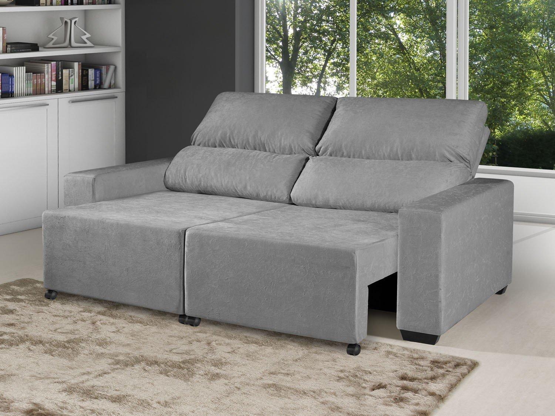 Foto 3 - Sofá Retrátil Reclinável 3 Lugares Suede Elegance - American Comfort
