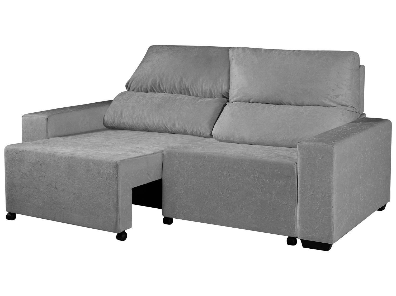 Foto 4 - Sofá Retrátil Reclinável 3 Lugares Suede Elegance - American Comfort