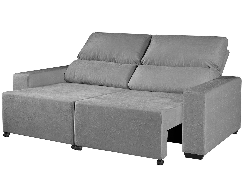 Foto 5 - Sofá Retrátil Reclinável 3 Lugares Suede Elegance - American Comfort