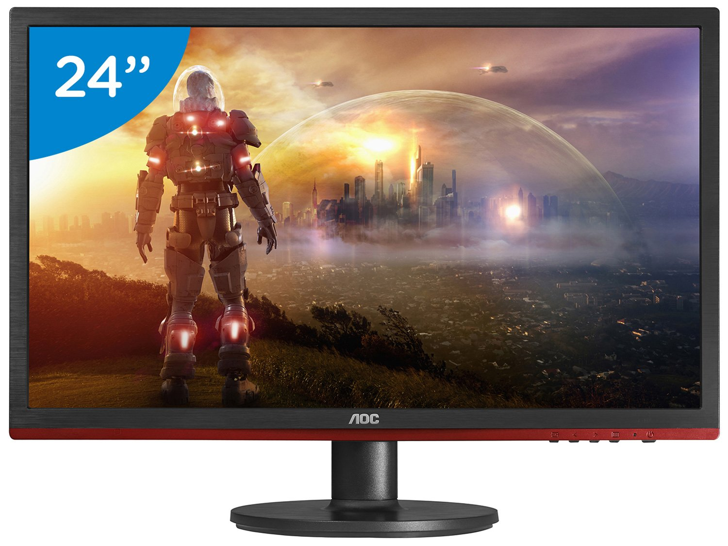 Foto 1 - Monitor Gamer Full HD AOC LED Widescreen 24 - Sniper G2460VQ6