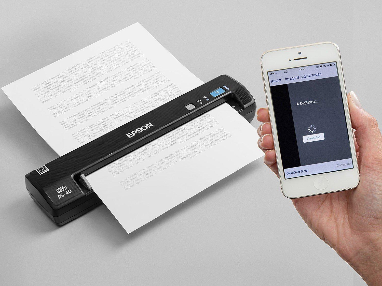 Foto 7 - Scanner Portátil Epson DS-40 Colorido - 600dpi com Conexão Wi-Fi USB