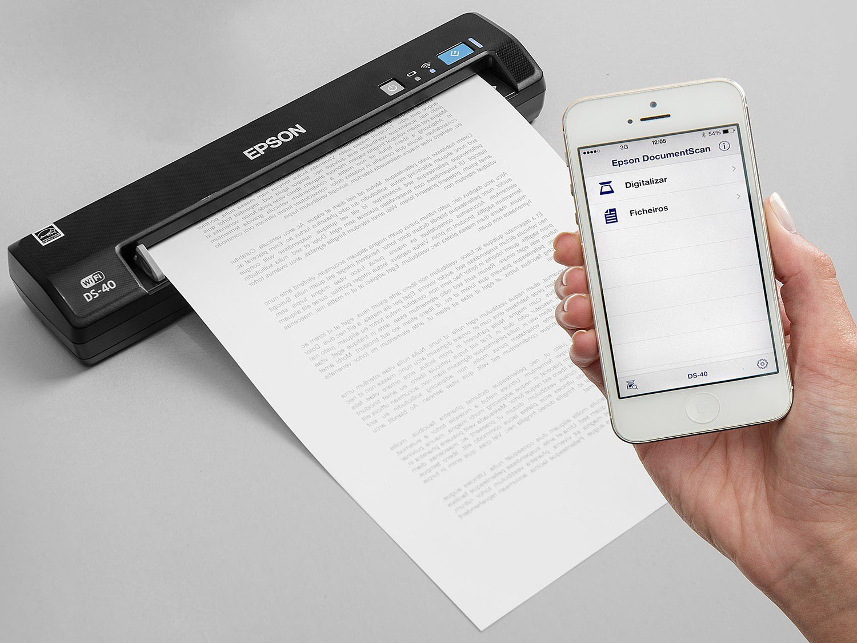 Foto 8 - Scanner Portátil Epson DS-40 Colorido - Wi-Fi 600dpi