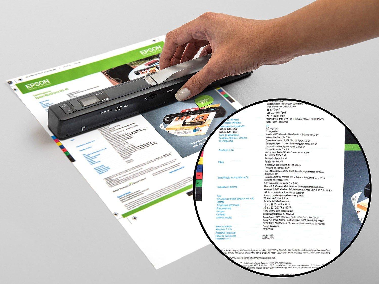 Foto 12 - Scanner Portátil Epson DS-40 Colorido - 600dpi com Conexão Wi-Fi USB
