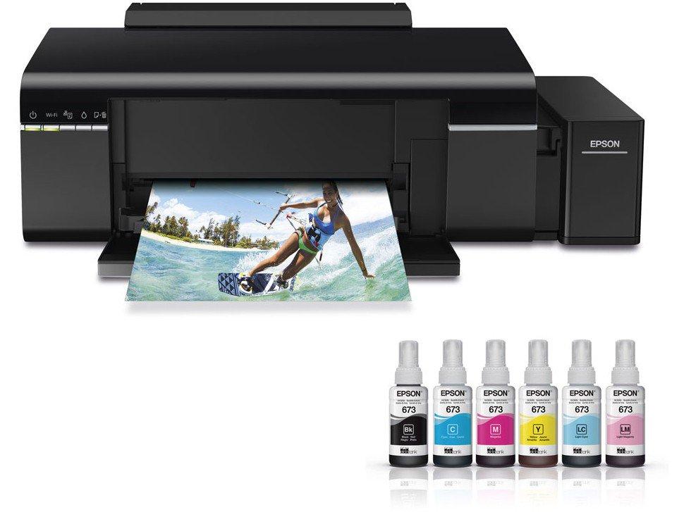 Foto 4 - Impressora Multifuncional Epson EcoTank L805 - Jato de Tinta Wi-Fi Colorida USB