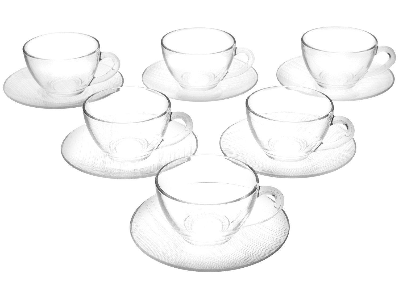 Jogo de Xícaras para Chá 12 Peças - Duralex Diamante