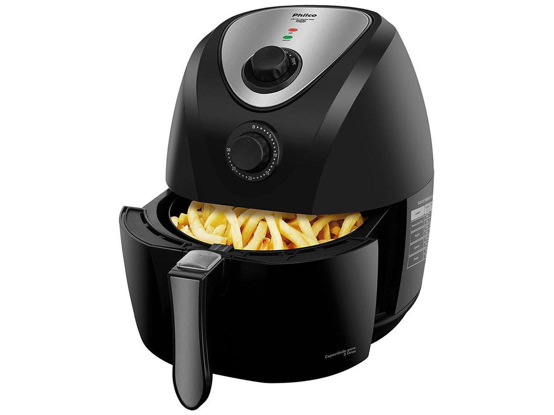 Fritadeira Sem Óleo Air Fryer Philco Saúde Inox PH3L 3,2 L - Preta - 110v