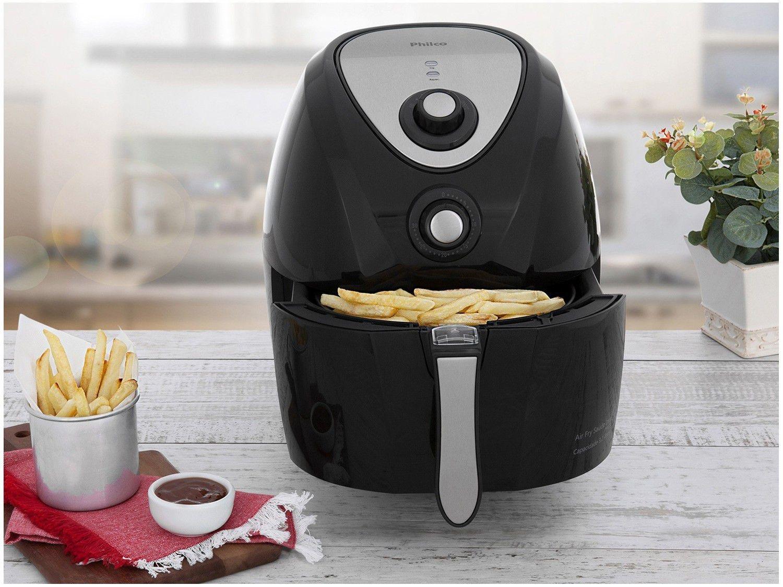 Fritadeira Sem Óleo Air Fryer Philco Saúde Inox PH3L 3,2 L - Preta - 110v - 8
