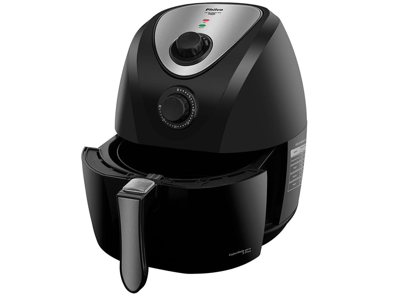 Fritadeira Sem Óleo Air Fryer Philco Saúde Inox PH3L 3,2 L - Preta - 110v - 16