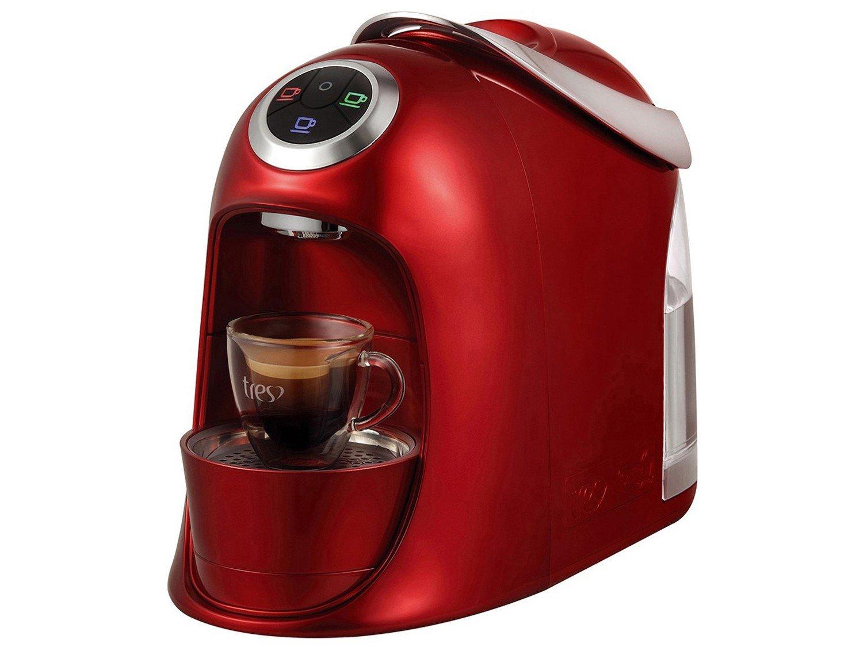 Máquina de Café Expresso e Multibebidas Automática TRES Versa - Vermelha - 110V