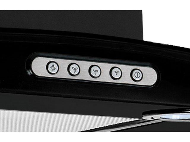Foto 2 - Coifa de Parede Nardelli Inox 60cm com Vidro Curvo - 3 Velocidades Slim BLACK 110V