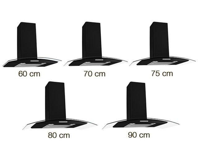 Foto 4 - Coifa de Parede Nardelli Inox 60cm com Vidro Curvo - 3 Velocidades Slim BLACK 110V