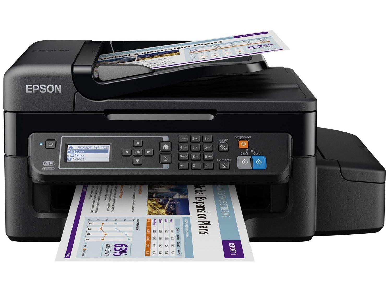 Foto 1 - Impressora Multifuncional Epson EcoTank L575 - Tanque de Tinta Wi-Fi Colorida