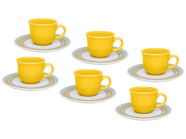 Jogo de Xícaras para Café 12 Peças - Floreal Daily Bilro