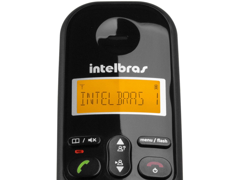 Telefone sem Fio Intelbras TS 3113 com Identificador de Chamada, Display luminoso e Tecnologia DECT 6.0 e 2 Ramais - Preto - 12