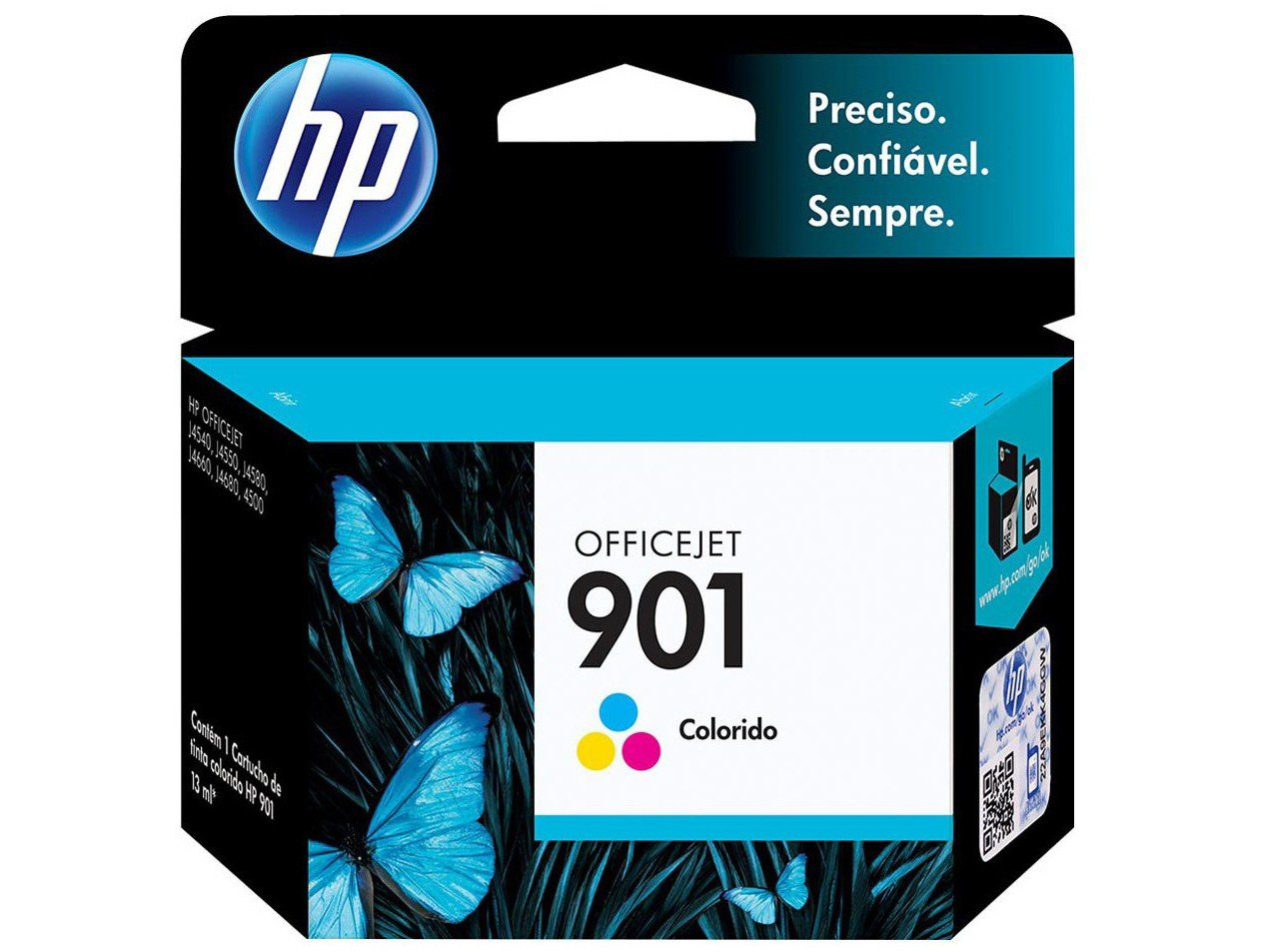 Foto 1 - Cartucho de Tinta HP Colorido 901 Officejet - Original