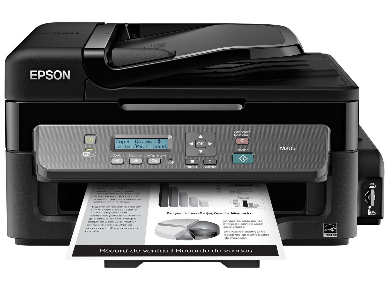 Foto 2 - Impressora Multifuncional Epson EcoTank M205 - Tanque de Tinta Wi-Fi Monocromática USB