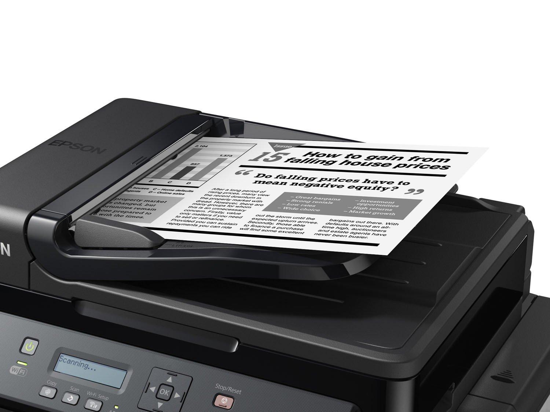 Foto 5 - Impressora Multifuncional Epson EcoTank M205 - Tanque de Tinta Wi-Fi Monocromática USB