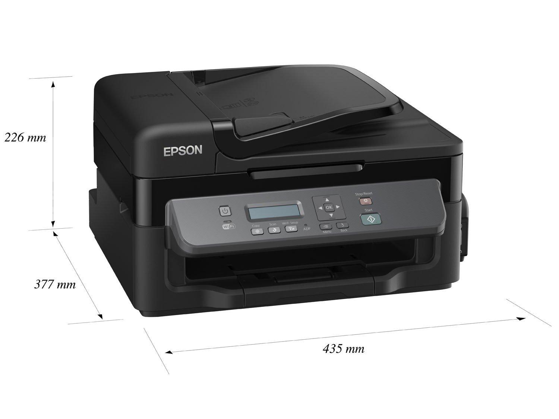 Foto 12 - Impressora Multifuncional Epson EcoTank M205 - Tanque de Tinta Wi-Fi Monocromática USB