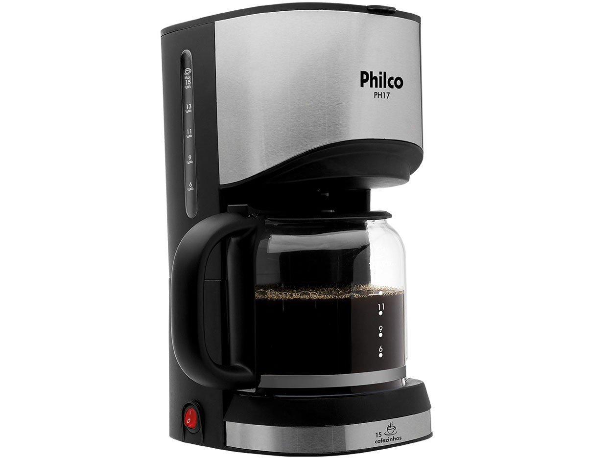 Cafeteira Elétrica Philco PH17 - Preta - 110 V - 4