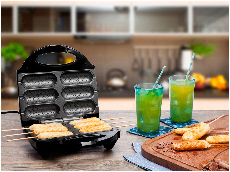 Crepeira e Hot Dog Britânia Six - Preta - 110 V - 2