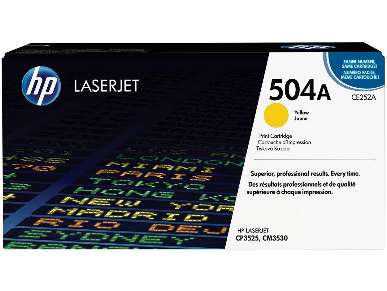 Foto 1 - Toner HP LaserJet 504A - Amarelo