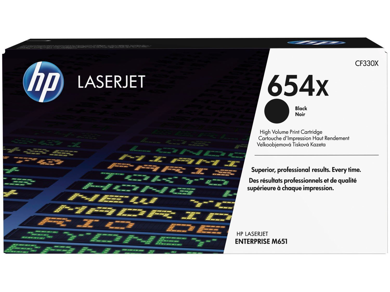 Foto 1 - Cartucho de Tinta HP Preto - LaserJet 654X