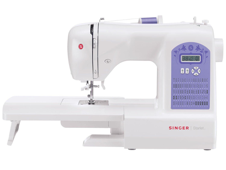 Máquina de Costura Singer Starlet 6680 74 Pontos - Branca/Roxa - 110v